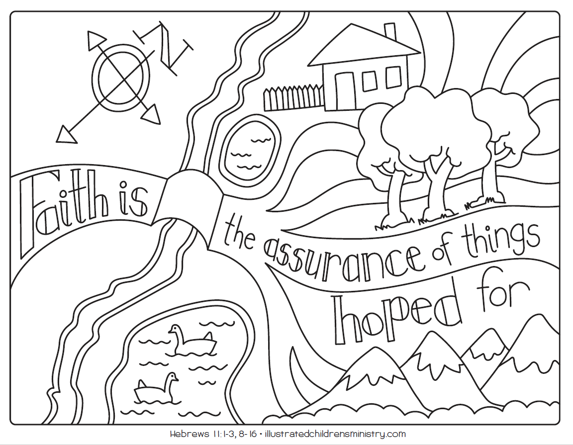 Children's worship resource - B&W coloring page