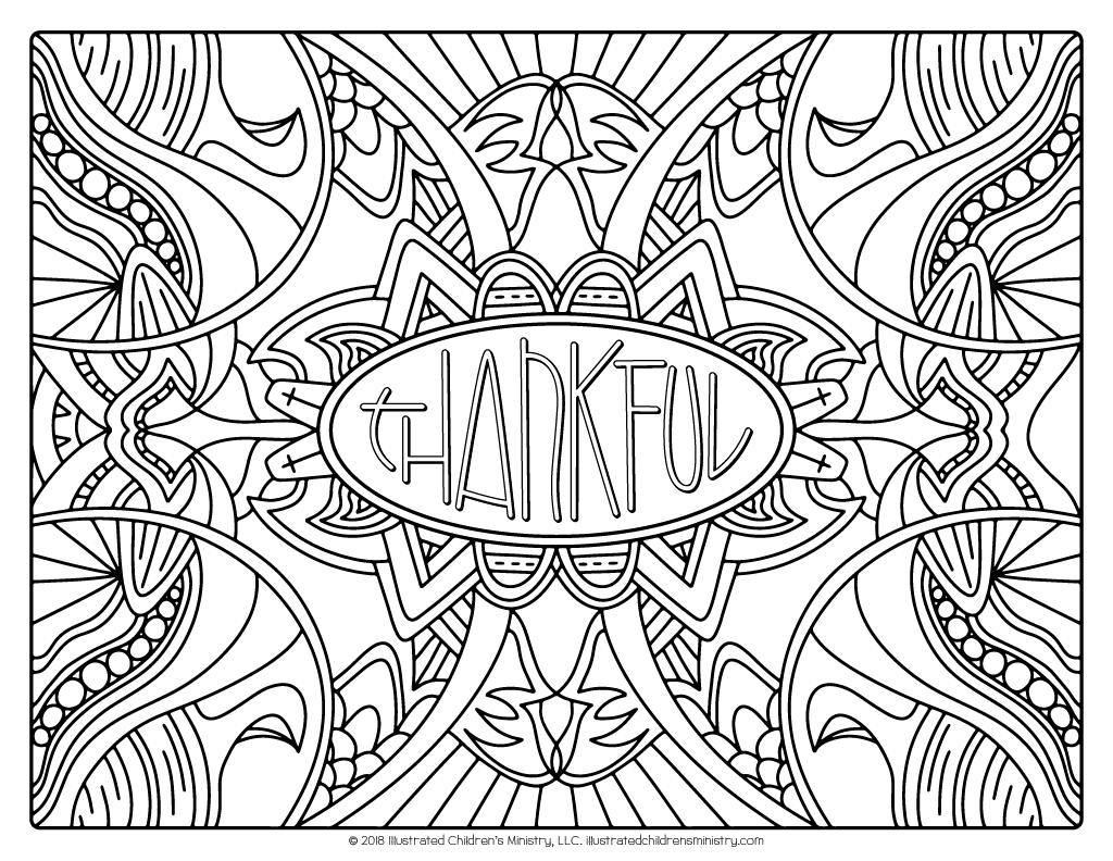 """I Will Give Thanks"" Coloring Pages"