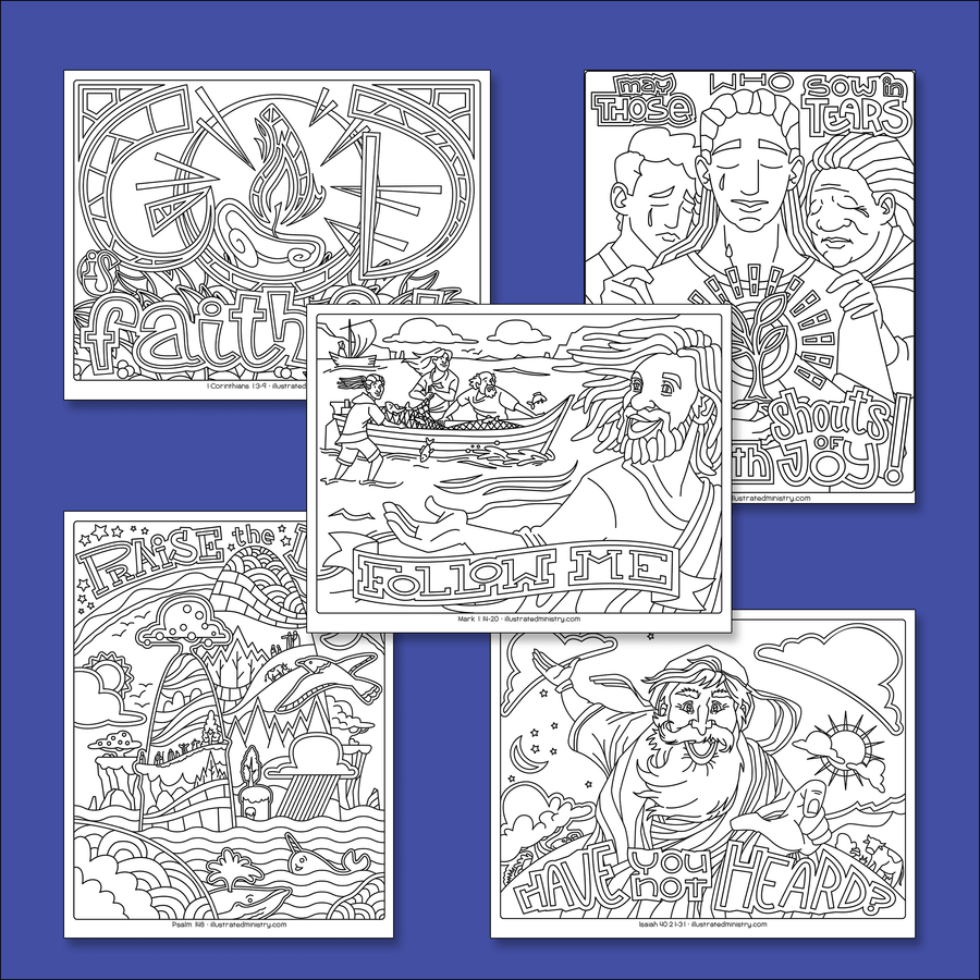 Bible Story Coloring Pages: Winter 2020-2021