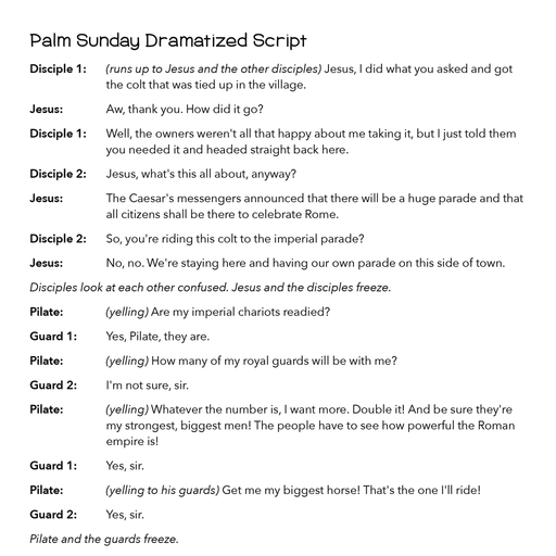 An Illustrated Holy Week Palm Sunday Resource