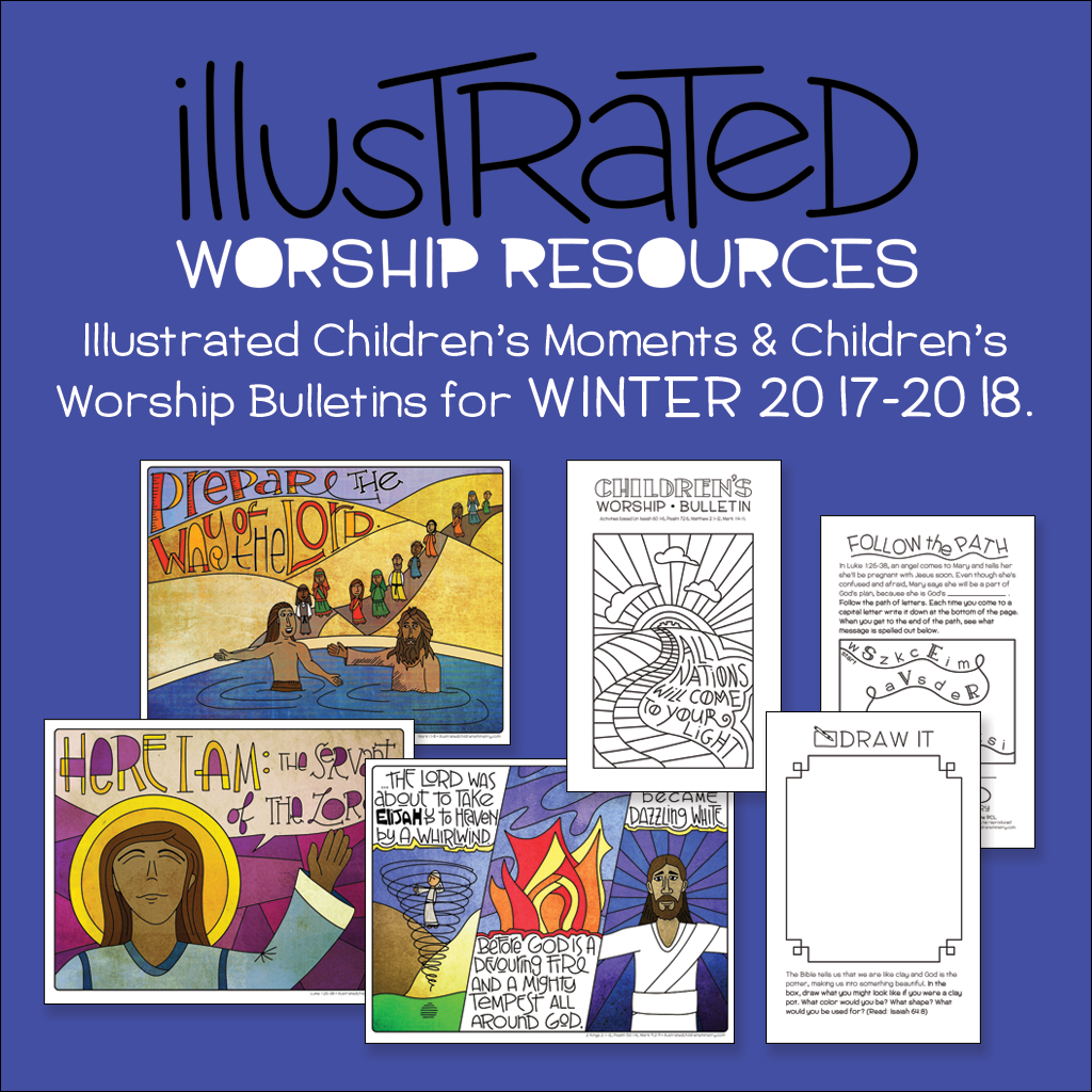 Illustrated Children's Moments and bulletins - Winter 2017-18