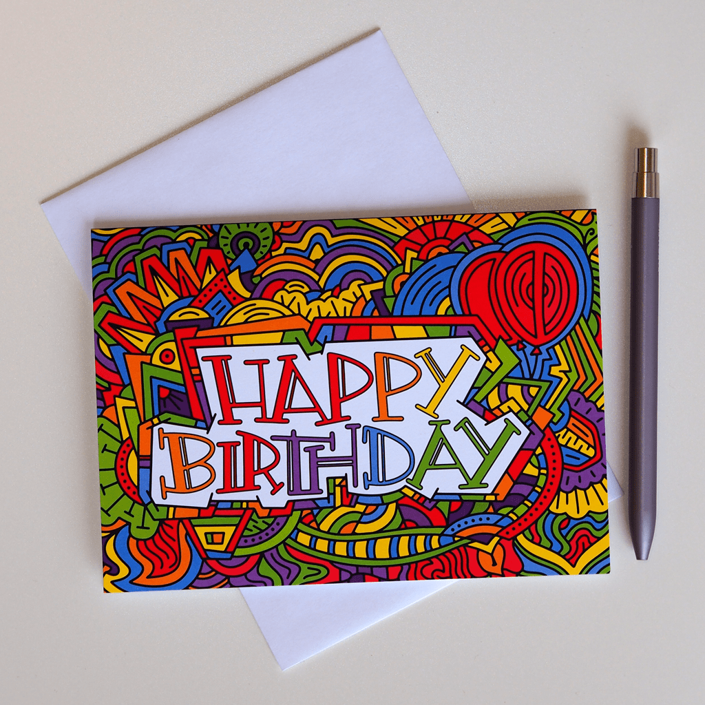 Illustrated Greeting Cards Happy Birthday Cards Illustrated