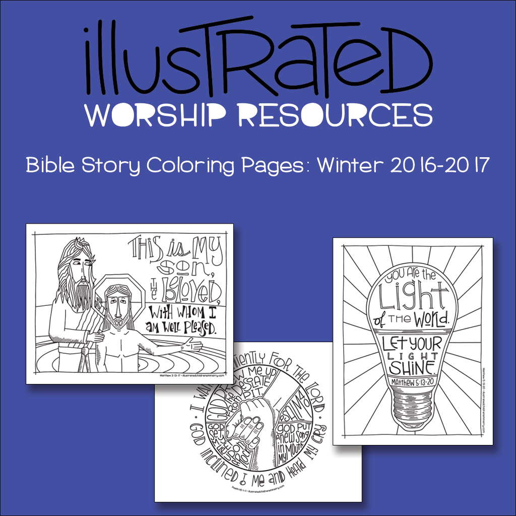 Bible Story coloring pages-Winter