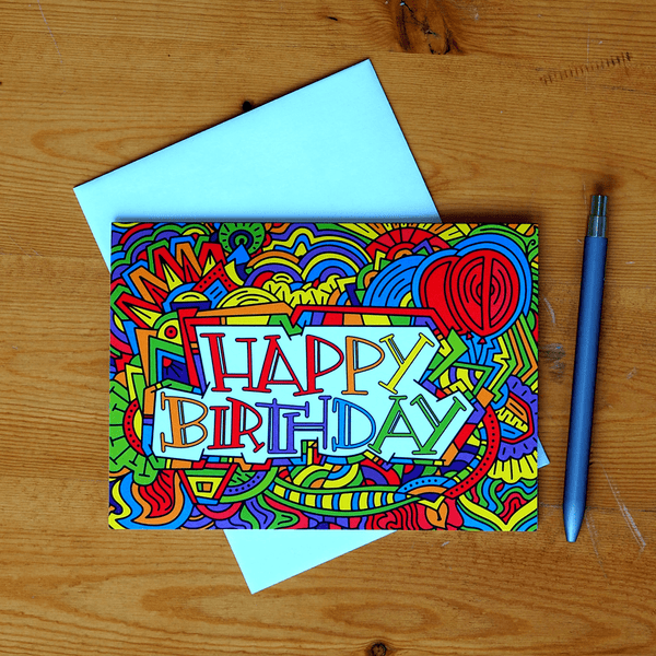 Illustrated Greeting Cards – Happy Birthday Cards
