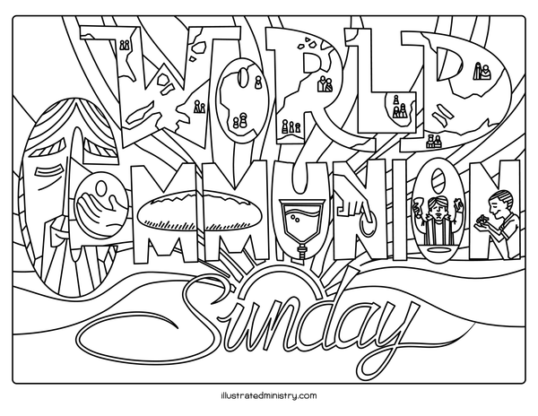 World Communion and Eucharist Coloring Page