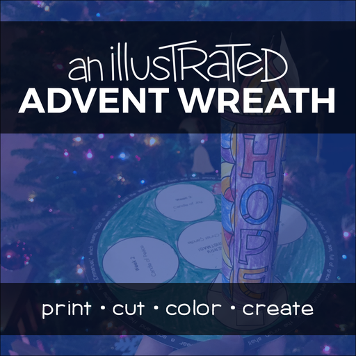 An Illustrated Advent Wreath