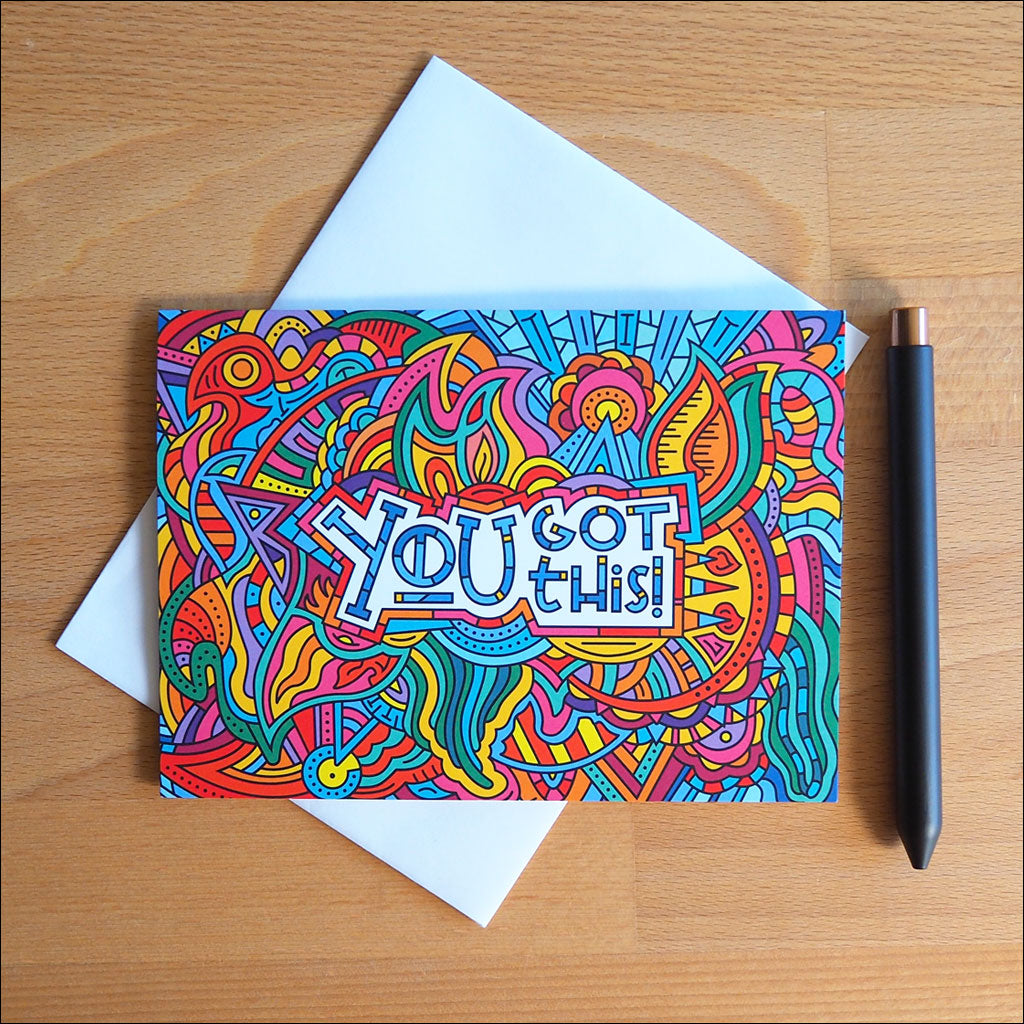 Illustrated Greeting Cards – You Got This Cards