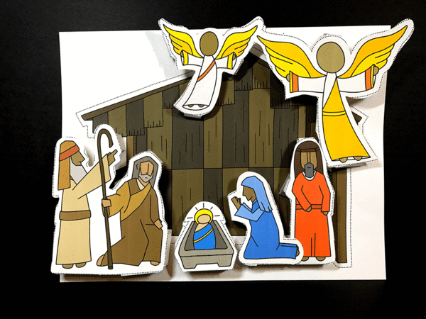 An Illustrated Nativity activity