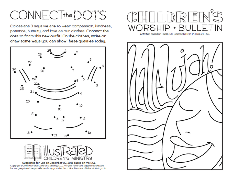Coloring Worship Bulletin - Winter