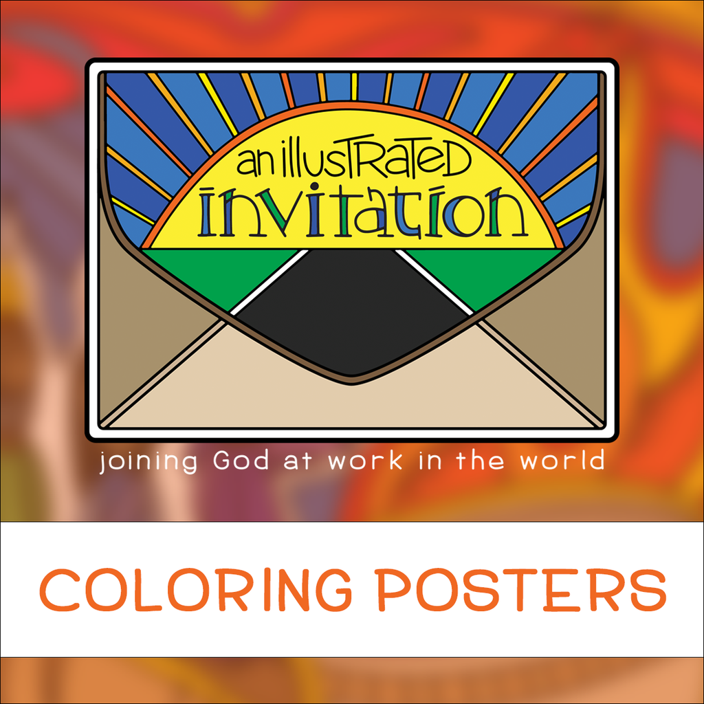 Illustrated Invitation Coloring Posters