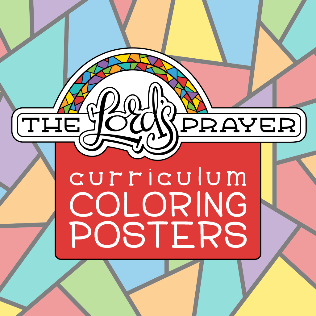 The Lord's Prayer curriculum coloring posters