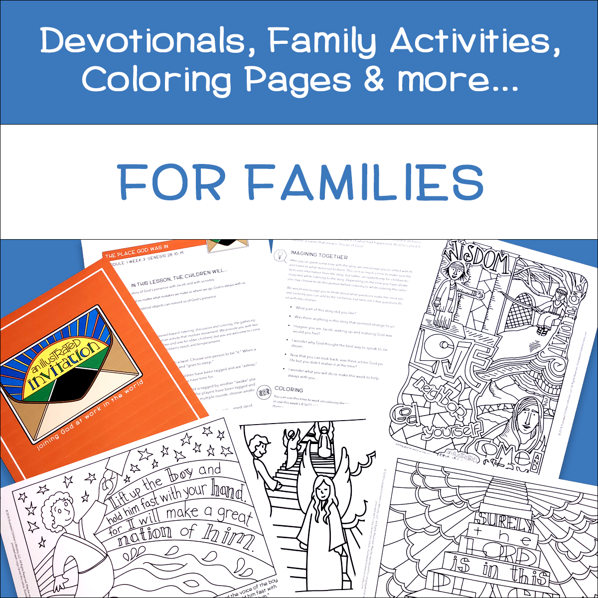 Family Devotions - Devotionals and Coloring