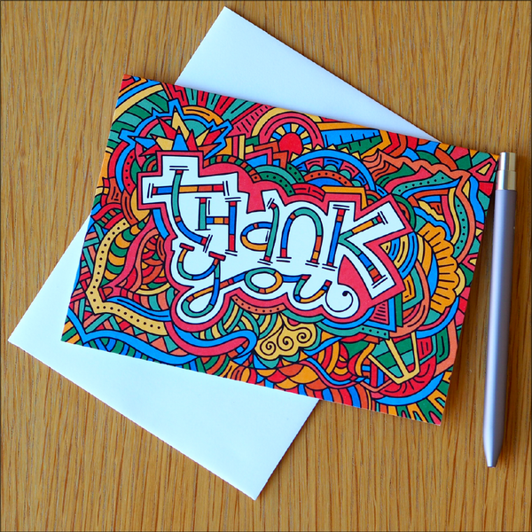 Illustrated Greeting Cards – Thank You Cards