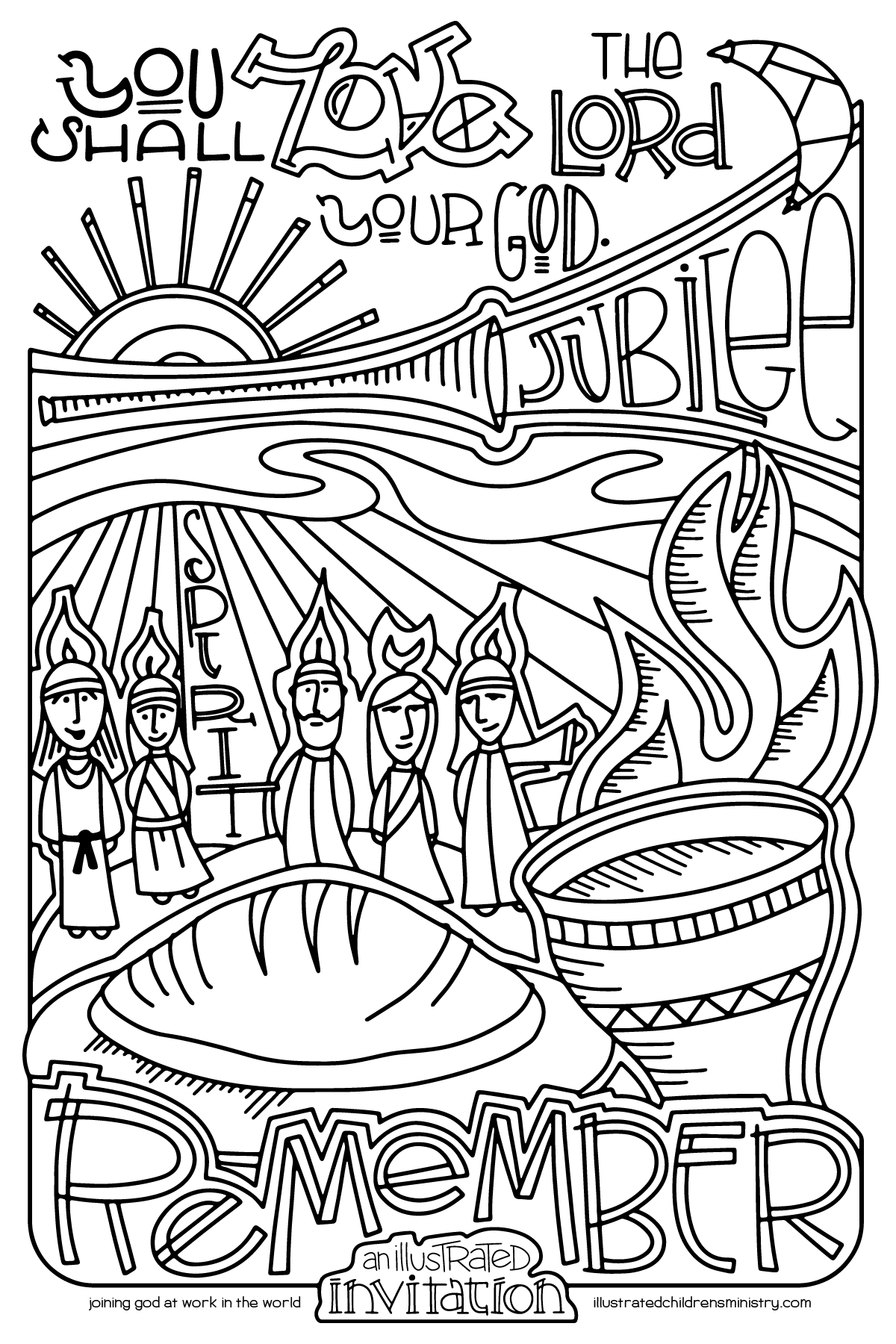 An Illustrated Invitation coloring page 3: Accepting God's Invitation