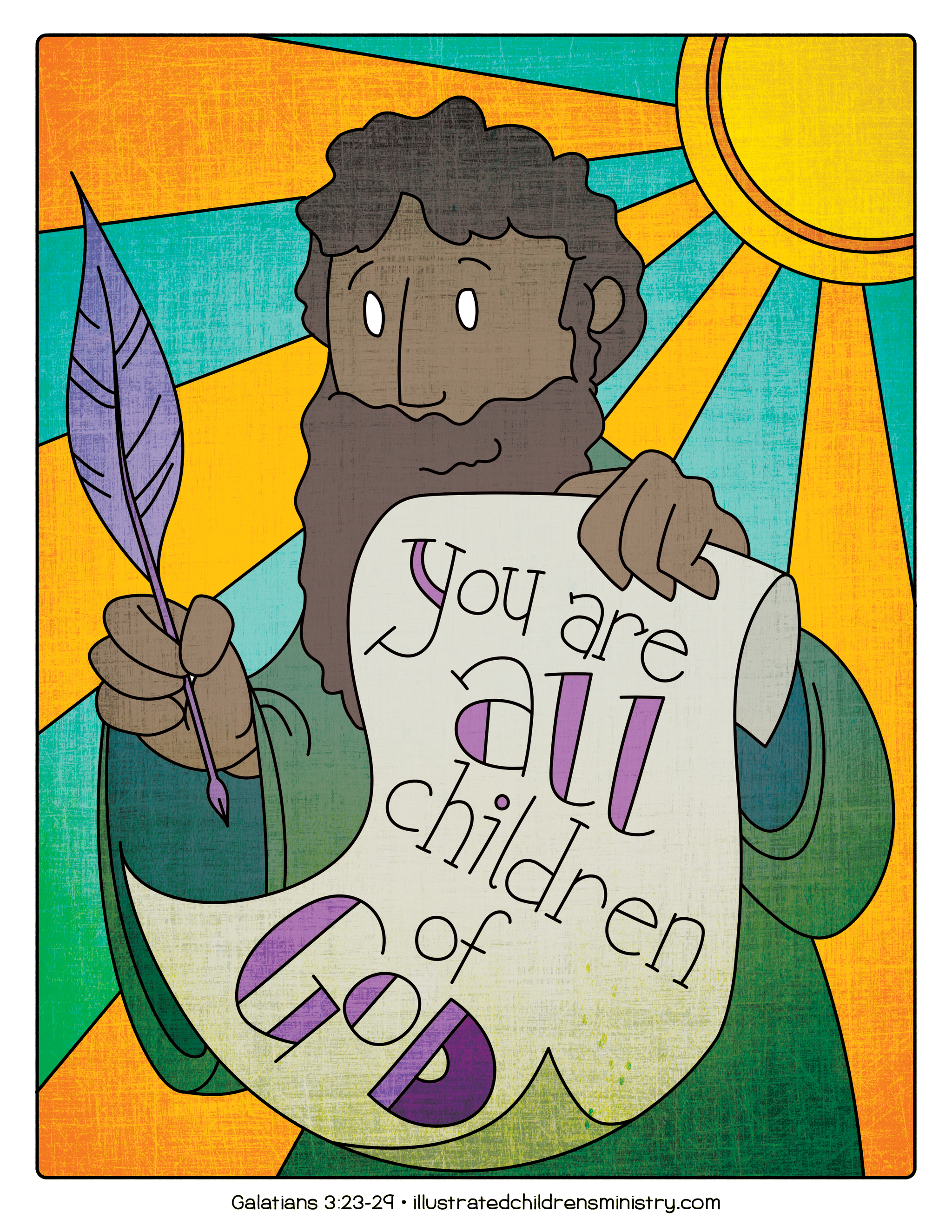 Illustration to accompany children's moment - You are all children of God