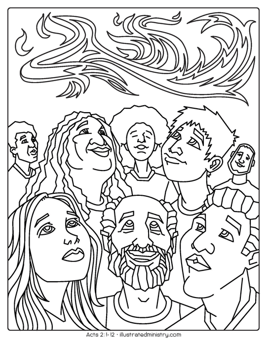 Bible Story Coloring Pages: Spring 2020 — Illustrated Ministry