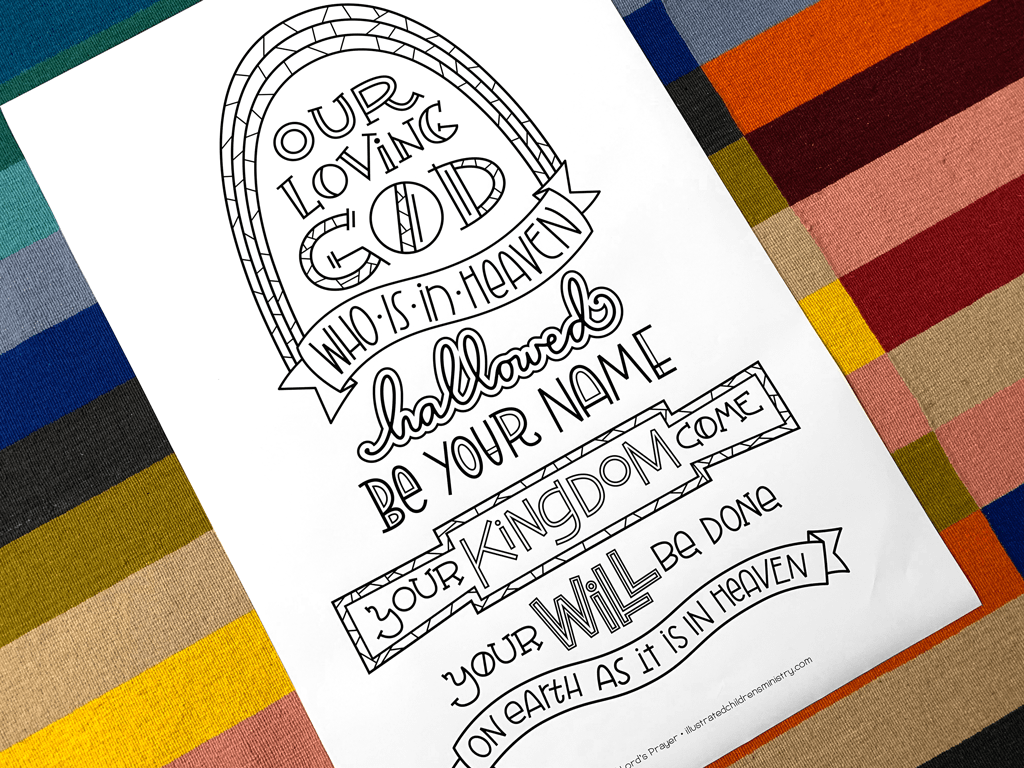 Coloring poster of the Lord's Prayer