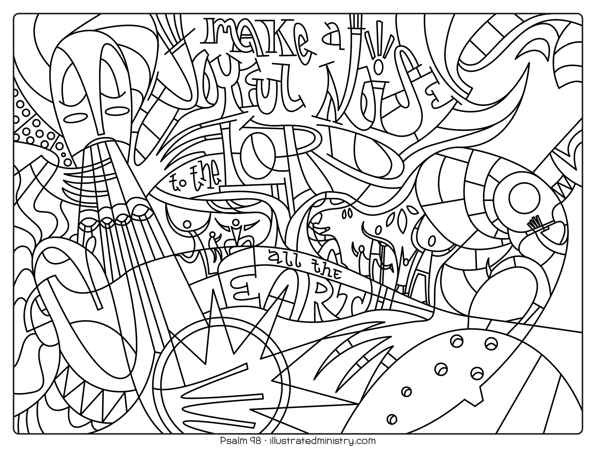 Bible Story Coloring Pages: Spring 2021