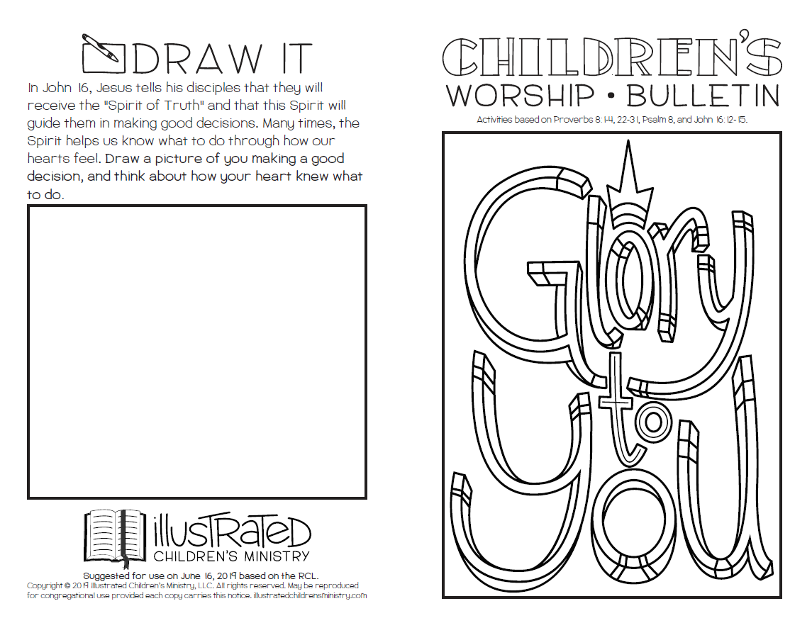 Children's summer worship bulletin
