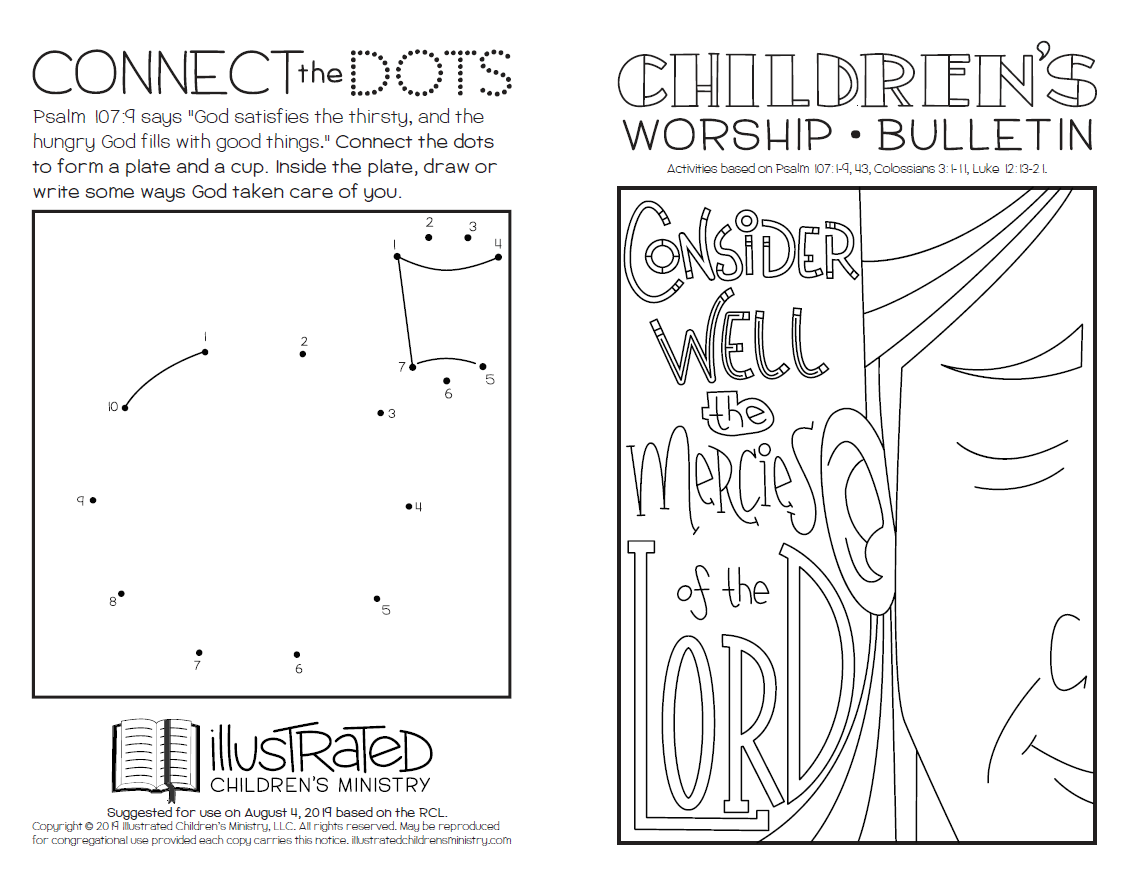 Children's worship bulletin - summer