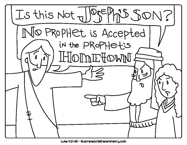 Bible Story Coloring Pages: Winter 2018-2019