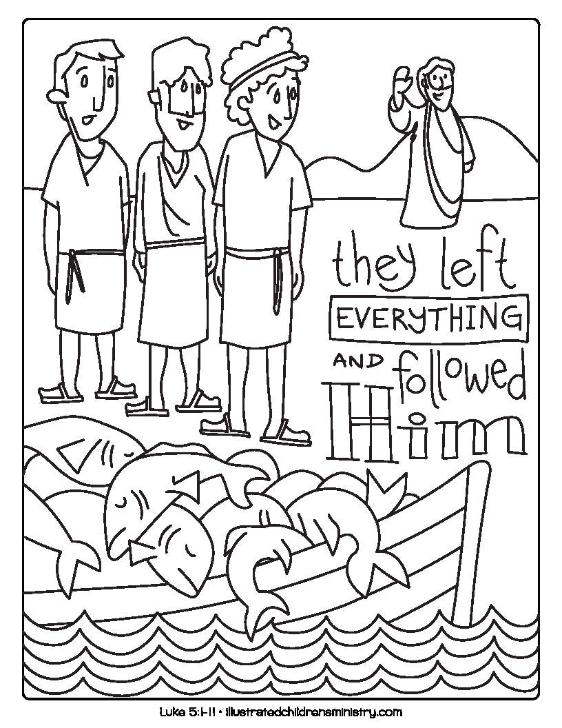 Disciples coloring page