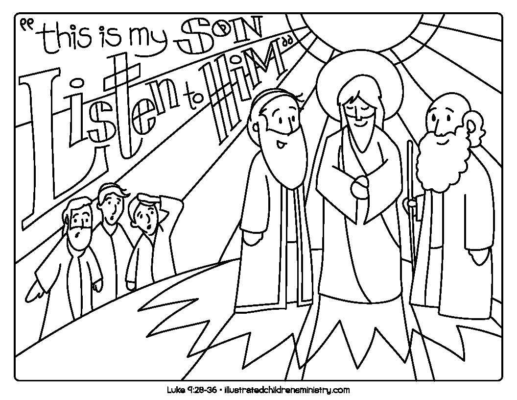 Jesus Bible story coloring page