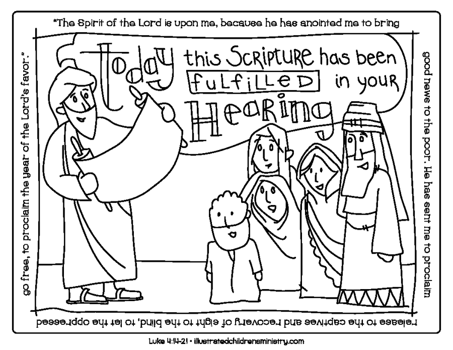 Bible Story Coloring Pages: Winter