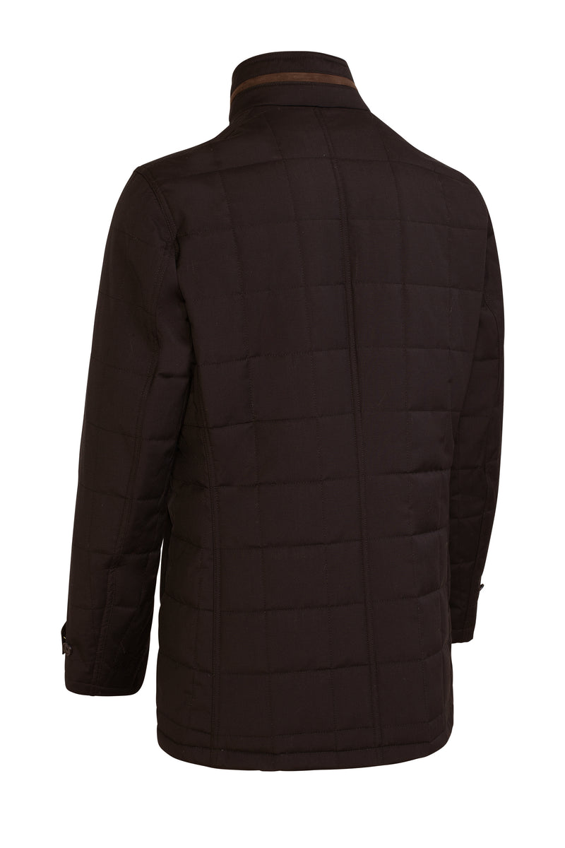 Belmont Technical Wool Car Coat - Black