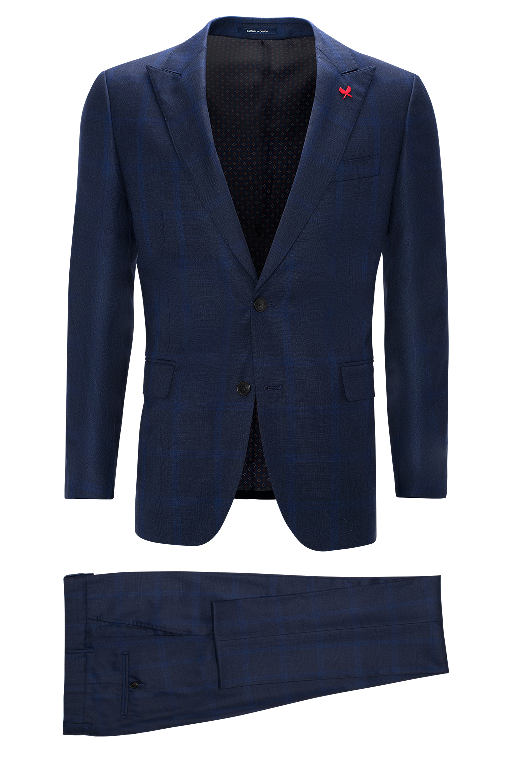 Navy Check Watson Modern Fit Wool Suit