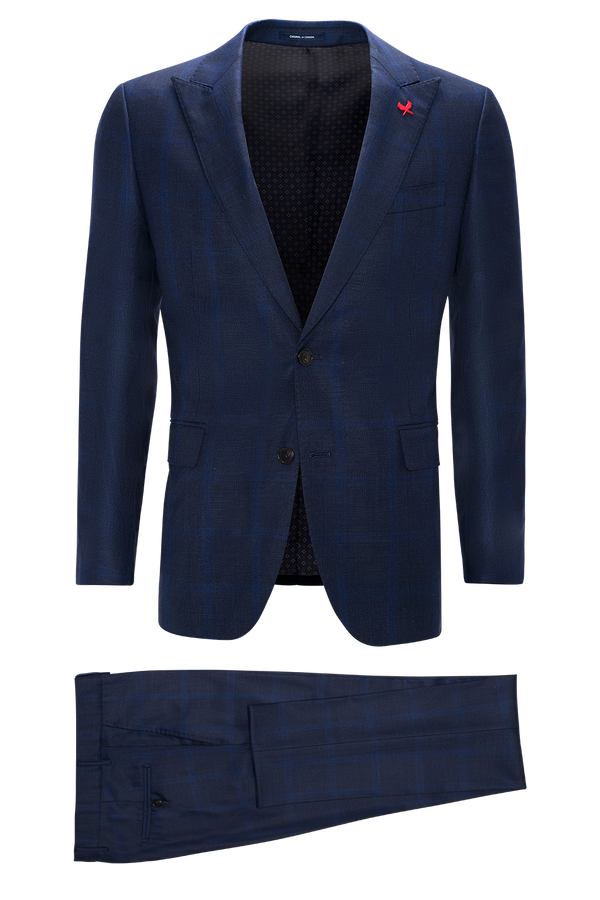 Watson Modern Fit Wool Suit - Navy Check