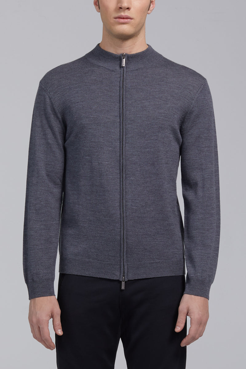 Hennessy High Neck Sweater - Gray