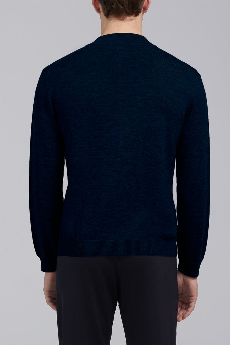 Hennessy High Neck Sweater - Navy