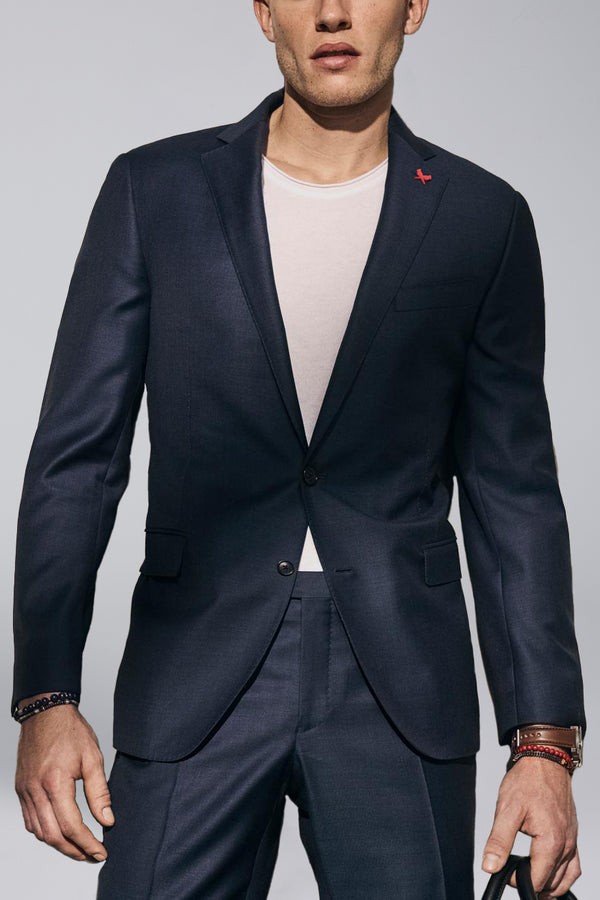 Westbury Contemporary Tailored Wool Suit - Navy