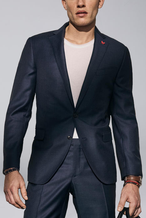 Navy Westbury Contemporary Tailored Wool Suit