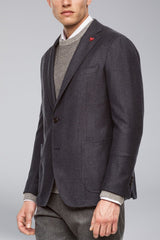 Anderson Contemporary Fit Wool Sport Coat - Grey Blue - Sportcoats - Cardinal of Canada-US-Anderson Contemporary Fit Wool Sport Coat - Grey Blue