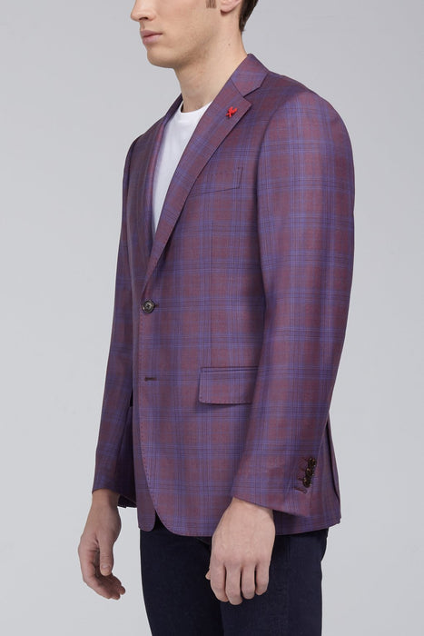 Ashton Plaid Classic Fit Sport Coat in Berry - Sportcoats - Cardinal of Canada-US-Ashton Plaid Classic Fit Sport Coat in Berry