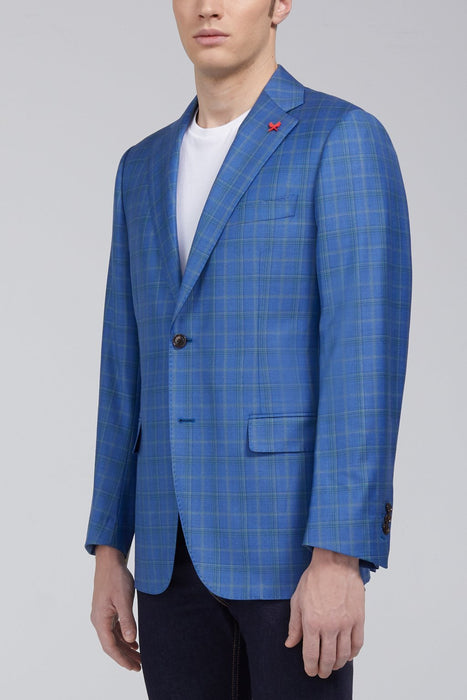 Ashton Tonal Plaid Classic Fit Sport Coat in Light Blue - Sportcoats - Cardinal of Canada-US-Ashton Tonal Plaid Classic Fit Sport Coat in Light Blue