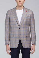 Ashton Windowpane Plaid Classic Fit Sport Coat in Tan - Sportcoats - Cardinal of Canada-US-Ashton Windowpane Plaid Classic Fit Sport Coat in Tan