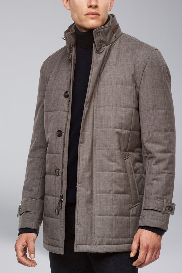 Belmont Technical Wool Car Coat - Gray