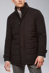 Belmont Technical Wool Coat - Black - Outerwear - Cardinal of Canada-US-Belmont Technical Wool Coat - Black