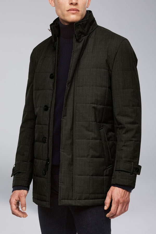 Belmont Technical Wool Coat - Charcoal - Outerwear - Cardinal of Canada-US-Belmont Technical Wool Coat - Charcoal