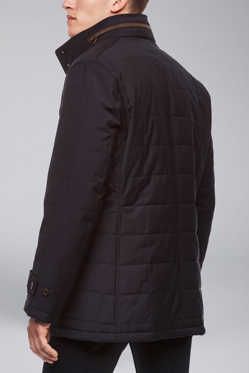 Belmont Technical Wool Coat - Navy - OUTERWEAR - Cardinal of Canada-US-Belmont Technical Wool Coat - Navy