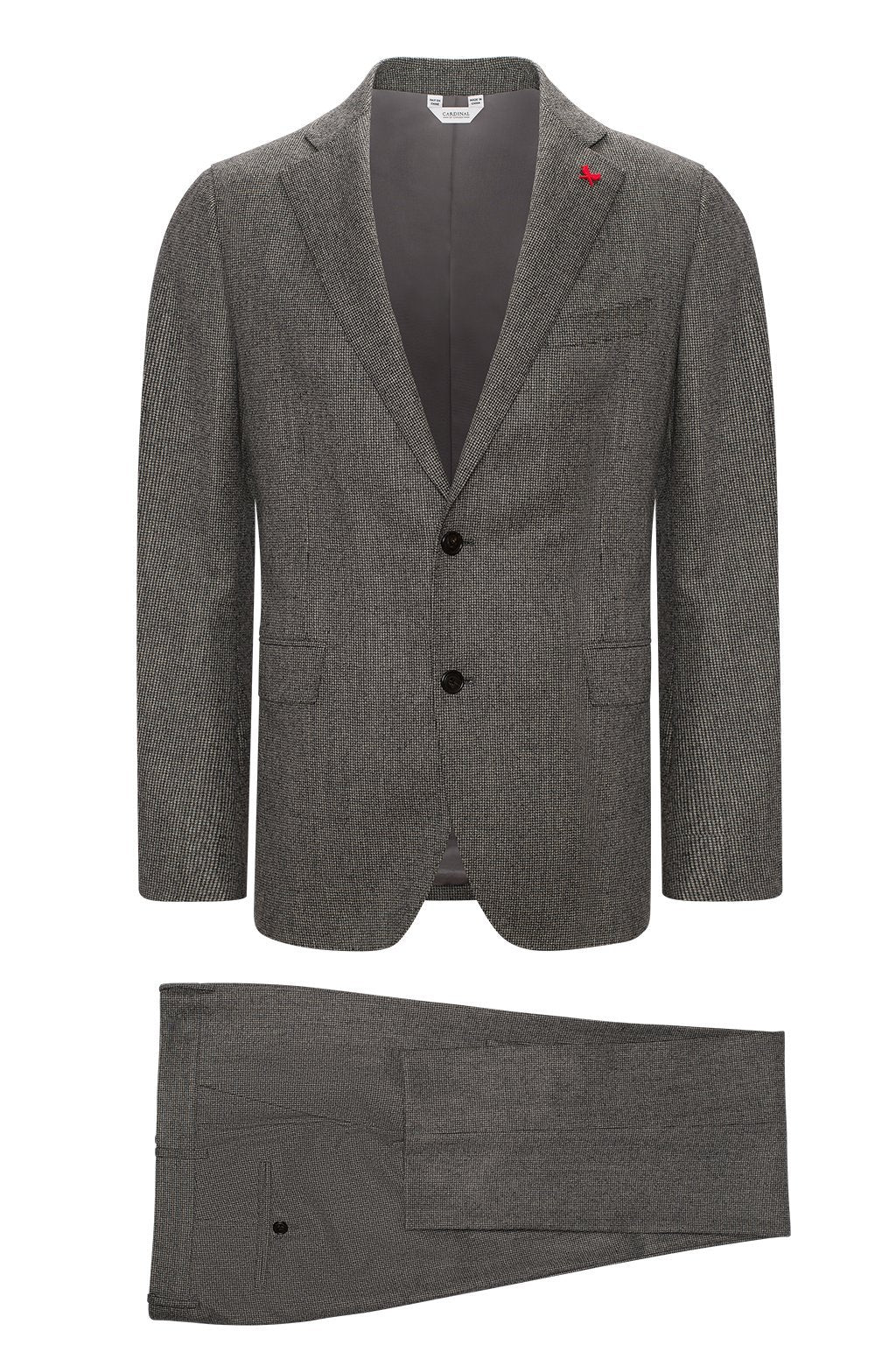 Black-Grey Winslo Modern-Slim Fit Wool Suit - Cardinal of Canada-US