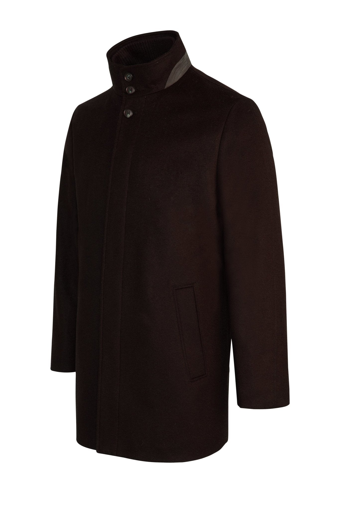 Black Mont-Royal Versatile Cashmere Wool Overcoat - Cardinal of Canada-US