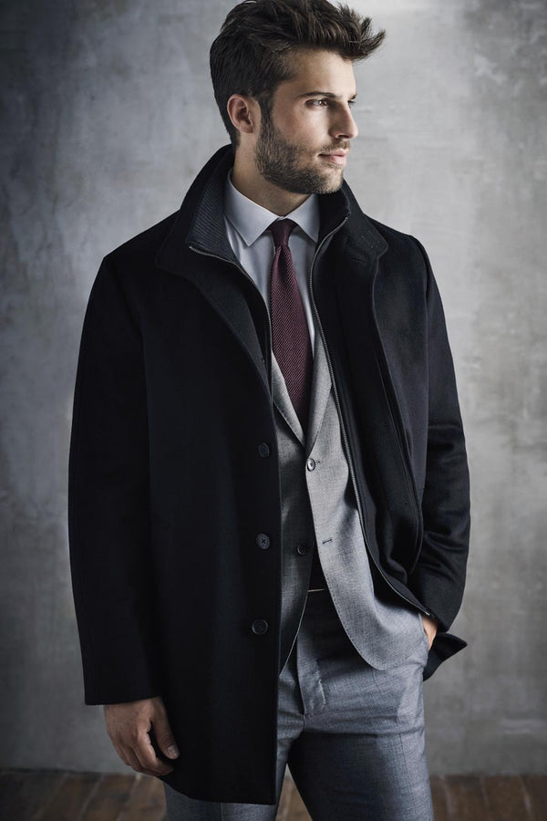 Black Mont-Royal Versatile Wool Overcoat - Cardinal of Canada-US