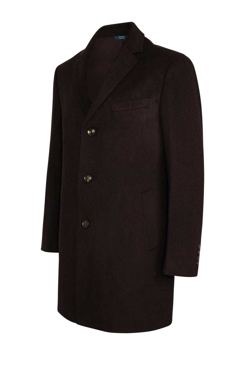 Black Saint-Paul Cashmere Wool Heritage Overcoat - Cardinal of Canada-US