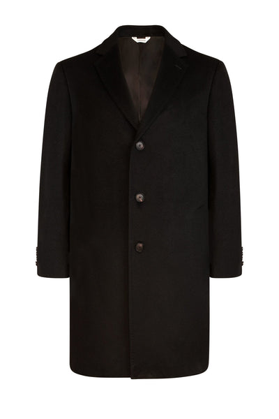 Black Saint-Pierre Pure Cashmere Overcoat - Cardinal of Canada-US