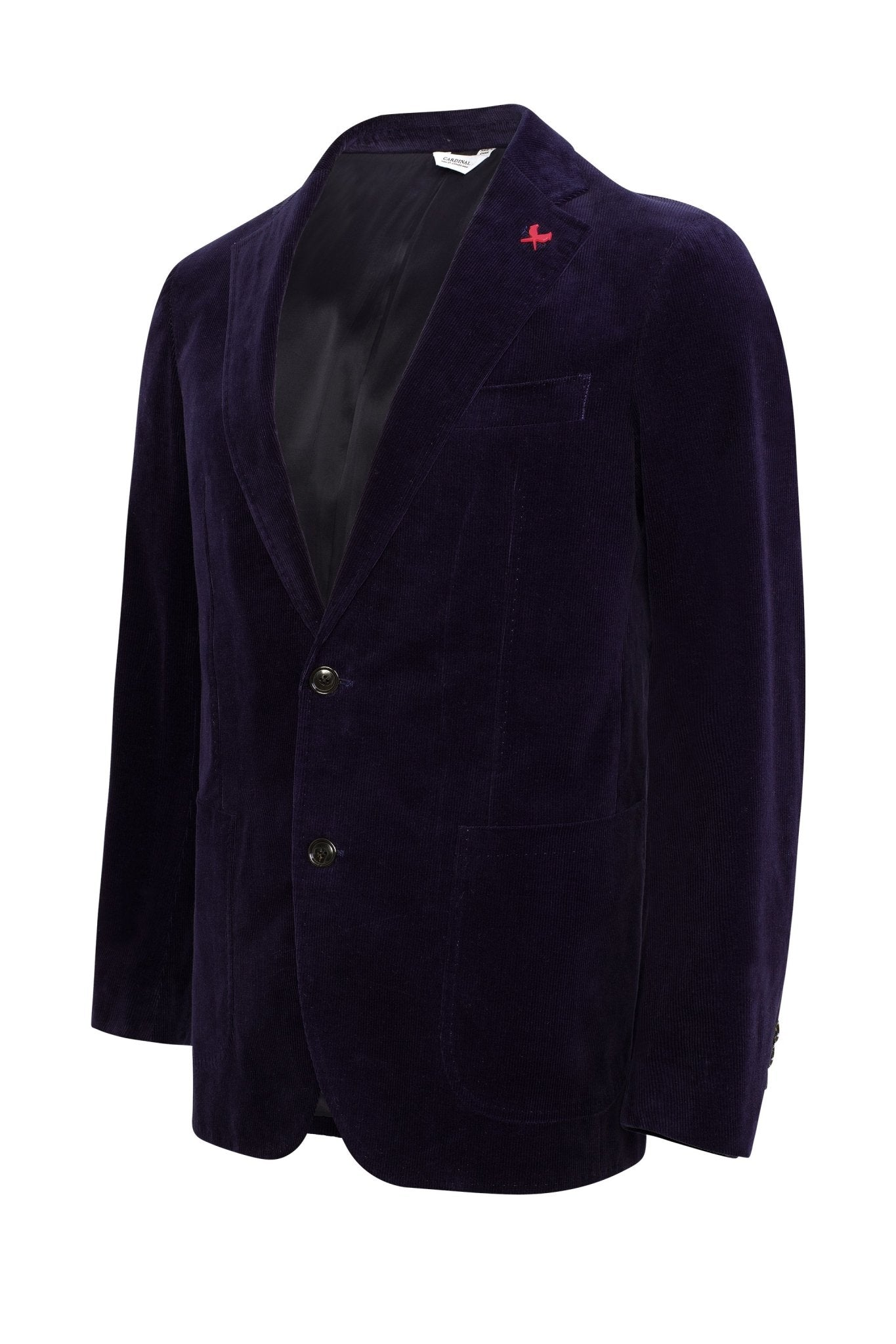 Blue Anderson Contemporary Fit Cord Sport Coat - Cardinal of Canada-US