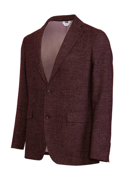 Burgundy Austin Modern Fit Versatile Wool Sport Coat - Cardinal of Canada-US